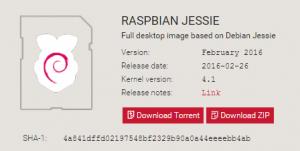 Rasbian Jessie 2016-02-26